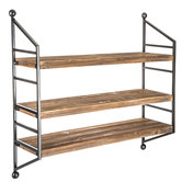 Wood Tri Wall Shelf